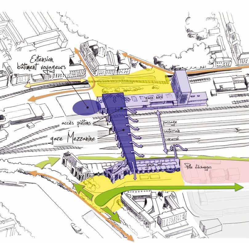Schema du Projet Gare de Nantes